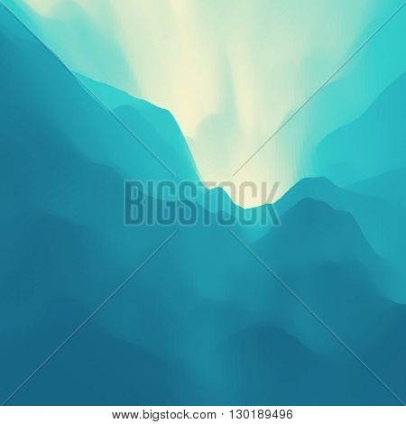 Mountain Landscape. Mountainous Terrain. Vector Backgrounds.