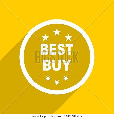yellow flat design best buy web modern icon for mobile app and internet