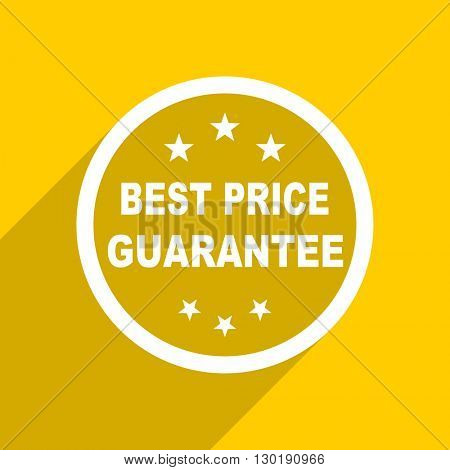 yellow flat design best price guarantee web modern icon for mobile app and internet