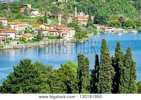 Lago di Como (Italy) landscape near Sala Comacina