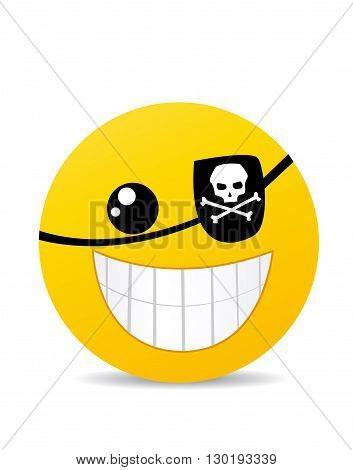 Modern yellow laughing happy smile illustration art