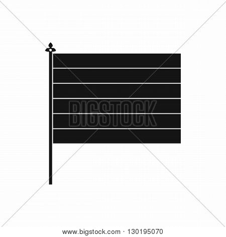 Flag icon in simple style on a white background