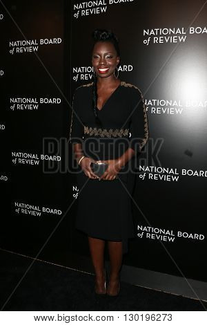 NEW YORK-JAN 5: Adepero Oduye attends the 2015 National Board of Review Gala at Cipriani 42nd Street on January 5, 2016 in New York City.