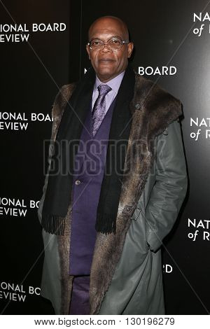 NEW YORK-JAN 5: Actor Samuel L. Jackson attends the 2015 National Board of Review Gala at Cipriani 42nd Street on January 5, 2016 in New York City.