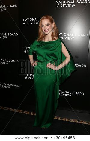 NEW YORK-JAN 5: Actress Jessica Chastain attends the 2015 National Board of Review Gala at Cipriani 42nd Street on January 5, 2016 in New York City.