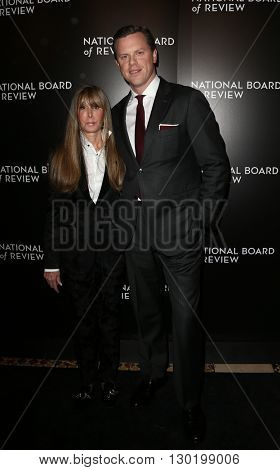 NEW YORK-JAN 5: NBR President Annie Schulhof (L) and Willie Geist attend the 2015 National Board of Review Gala at Cipriani 42nd Street on January 5, 2016 in New York City.