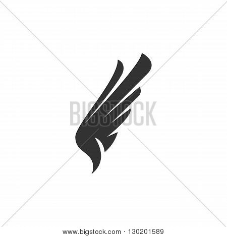 Wing Icon. Wing logo. Vector design element. Abstract emblem, design concept. Logotype element for template. Vector illustration on white background.