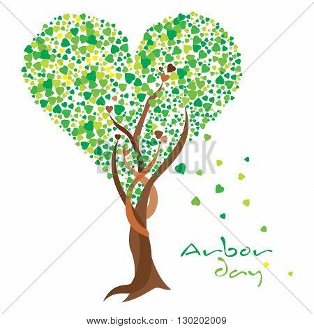 Heart shaped tree celebrating the love for Arbor day