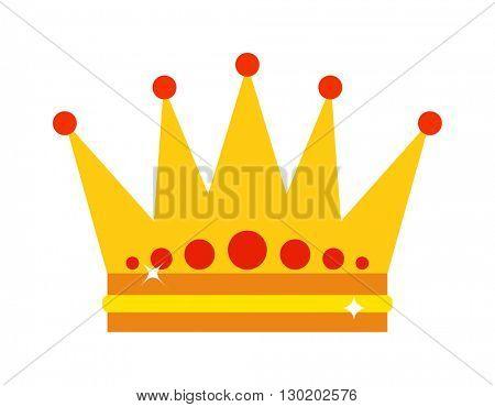 Gold crown vector illustration.