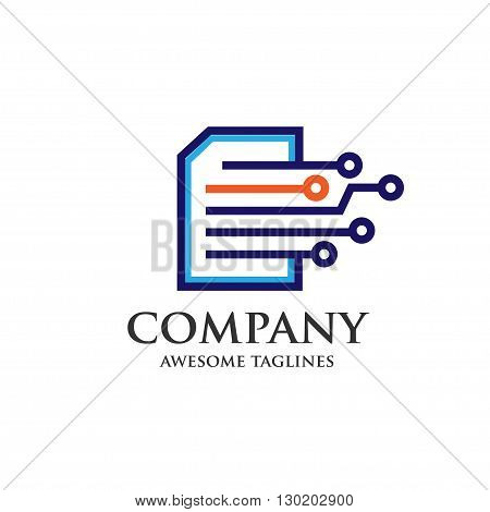 digital print. digital document. digital book. vector concept