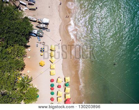 Top View of a beach in Bahia, Brazil