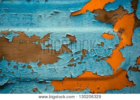 Rusty Metal Background With Paint