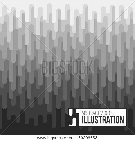 Abstract black and white halftone background. Vector pattern with vertical spot. Monochrome stripe design. Flat vector illustration.