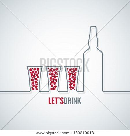 cocktail shot design vector background 10 eps