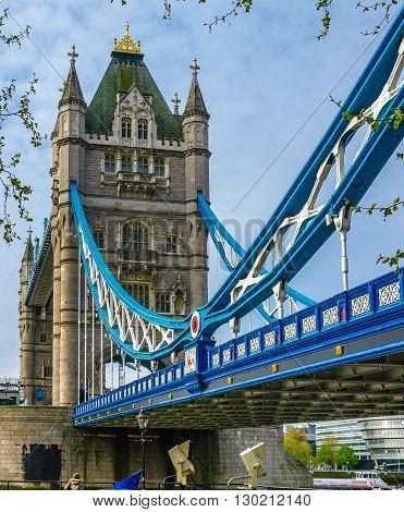 London Bridge over the Thames river. UK