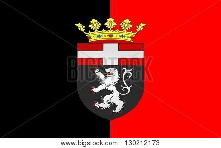 Flag of Aosta is the principal city of Aosta Valley a bilingual region in the Italian Alps