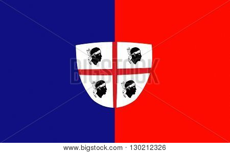 Flag of Cagliari is an Italian municipality and the capital of the island of Sardinia an autonomous region of Italy