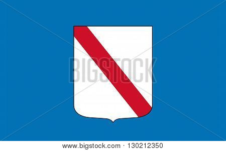 Flag of Campania is a region in southern Italy