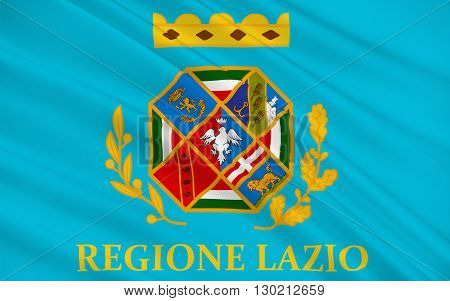 Flag of Lazio is one of the 20 administrative regions of Italy situated in the central peninsular section of the country