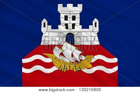 Flag of Belgrade is the capital and largest city of Serbia
