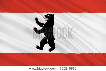 Flag of Berlin is the capital of Germany and one of its 16 states