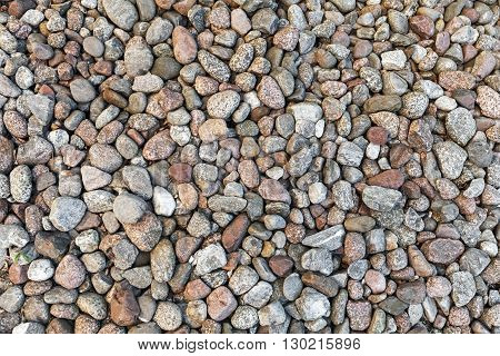 Round gray stones natural photo background texture