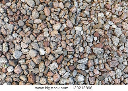 Round gray stones natural photo background texture