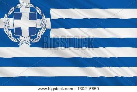 Flag of Greece officially the Hellenic Republic also known since ancient times as Hellas is a country located in southeastern Europe