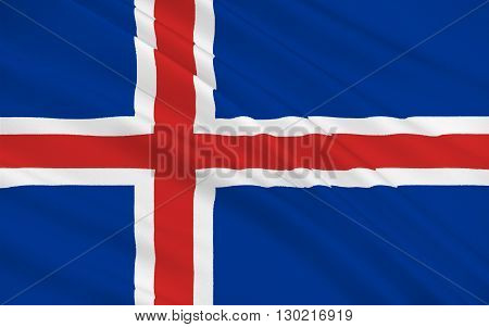 Flag of Iceland also called the Republic of Iceland is a Nordic island country between the North Atlantic and the Arctic Ocean
