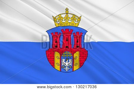Flag of Krakow also Cracow or Krakow is the second largest and one of the oldest cities in Poland