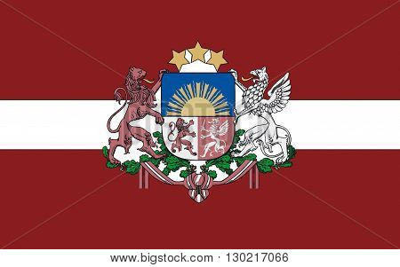 Flag of Latvia officially the Republic of Latvia is a country in the Baltic region of Northern Europe one of the three Baltic states