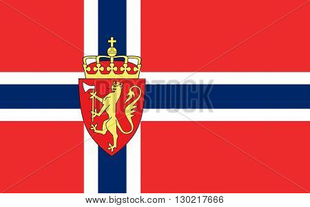 Flag of Norway officially the Kingdom of Norway is a sovereign and unitary monarchy whose territory comprises the western portion of the Scandinavian Peninsula plus the island Jan Mayen and the archipelago of Svalbard