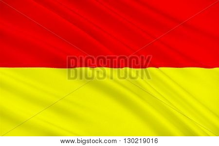 Flag of Wroclaw is the largest city in western Poland