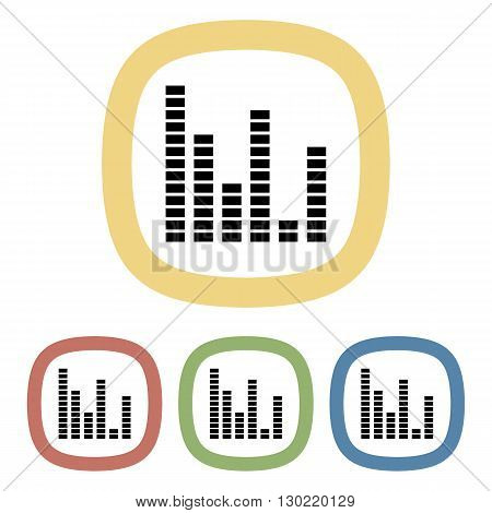 Equalizer colorful icon. Vector illustration of equalizer set