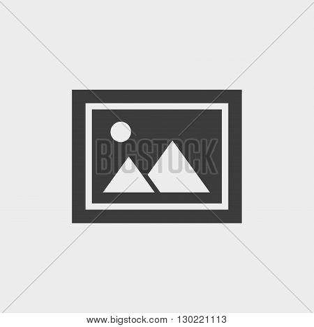 Photo icon in black color. Vector illustration eps10