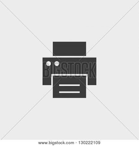Fax printer icon in black color. Vector illustration eps10