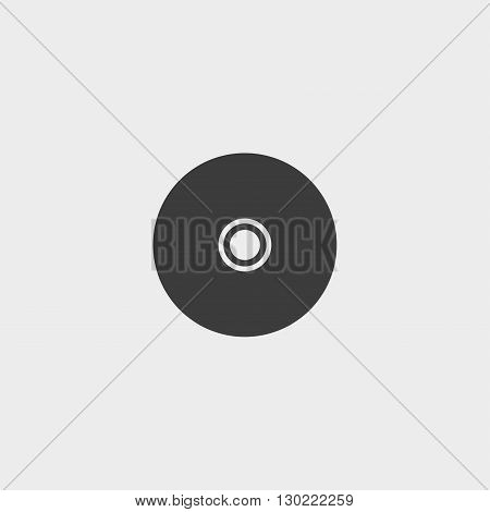 Cd icon in black color. Vector illustration eps10