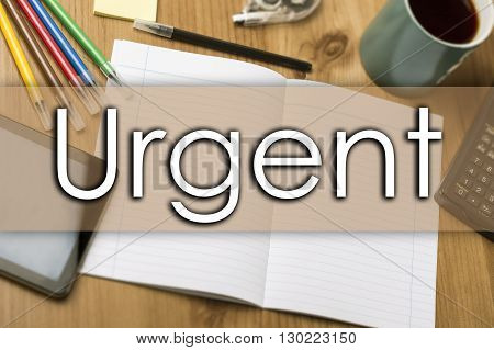 Urgent - Business Concept With Text