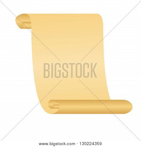 Old scroll paper. Vector illustration for your design