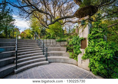 The Baldwin Steps At Spadina Park, In Midtown Toronto, Ontario.