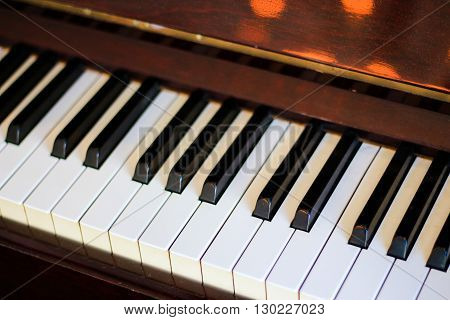 Piano keyboard - Soft focus - Music instrument
