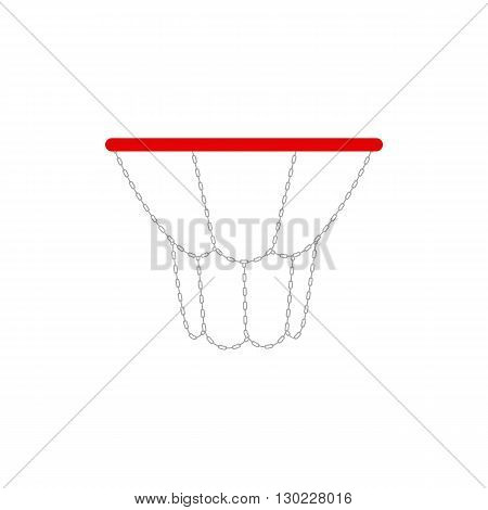 vector illustration of a basketball rims. EPS 10. Steel basketball hoop vector isolated.