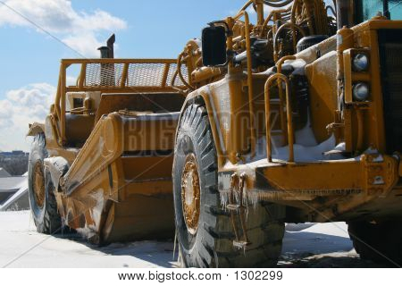 Heavy Equipment Construction Wintertime