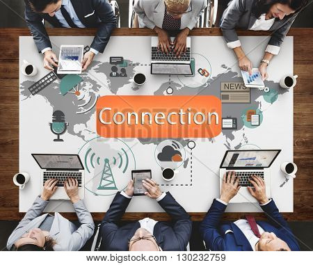 Connection Communication Interconnection Concept