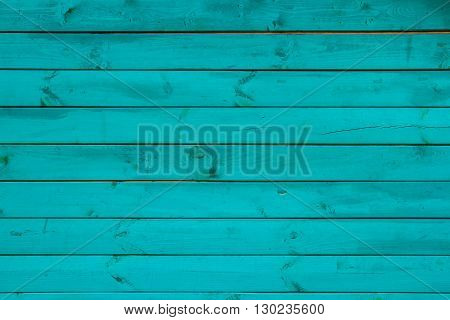 Wooden plank background texture in turquoise hues