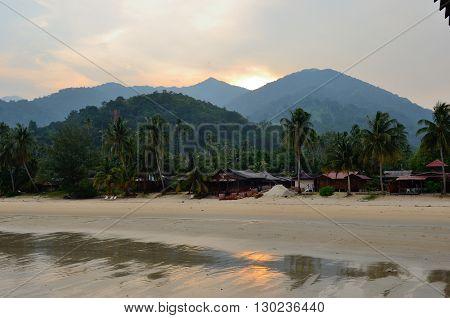 Tioman Island/Malaysia - September 2012: Juara Mutiara Resort on the Juara beach, Tioman Island, Malaysia.