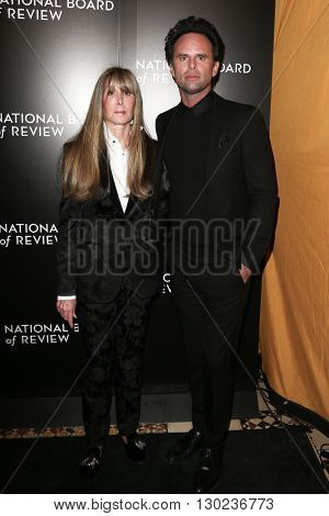 NEW YORK-JAN 5: NBR President Annie Schulhof (L) and actor Walton Goggins attend the 2015 National Board of Review Gala at Cipriani 42nd Street on January 5, 2016 in New York City.