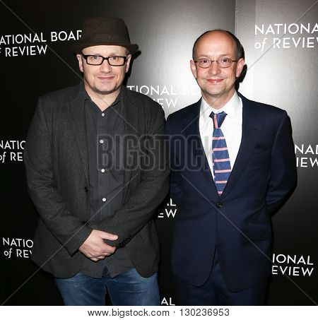 NEW YORK-JAN 5: Director Lenny Abrahamson (L) and producer Ed Guiney attend the 2015 National Board of Review Gala at Cipriani 42nd Street on January 5, 2016 in New York City.