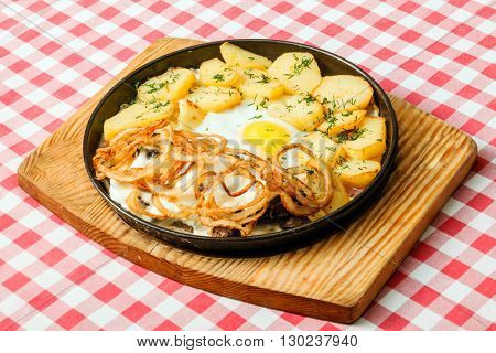 potatoes with egg