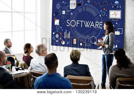 Software Computer Technology Data Hardware Concept